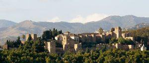 Alcazaba de Málaga desde el puerto